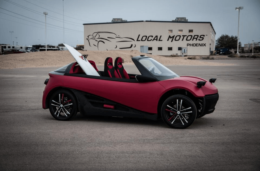 Strati 3D-printed electric car image
