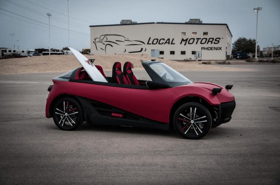 Strati 3D-printed electric car image